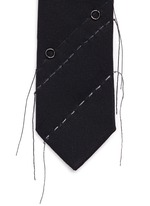 Variegated stitch twill tie