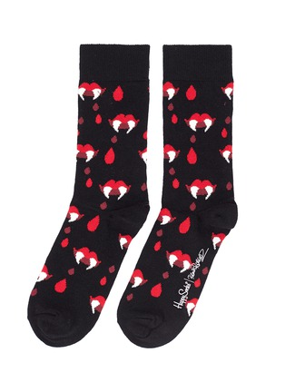 Main View - Click To Enlarge - Happy Socks - x Robert Rodriguez Fangs & Blood Socks