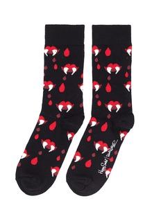 HAPPY SOCKSx Robert Rodriguez Fangs & Blood Socks