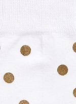 Metallic dot socks