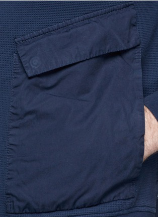 Detail View - Click To Enlarge - Paul Smith - Contrast sleeve cotton piqué bomber jacket