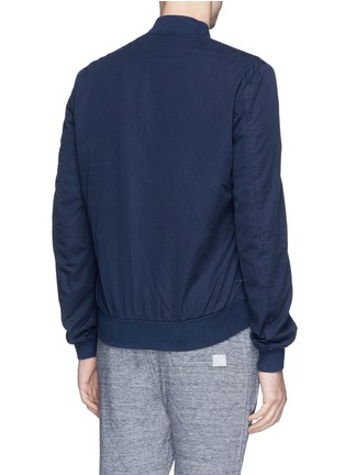 Back View - Click To Enlarge - Paul Smith - Contrast sleeve cotton piqué bomber jacket