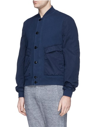 Front View - Click To Enlarge - Paul Smith - Contrast sleeve cotton piqué bomber jacket