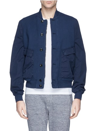 Main View - Click To Enlarge - Paul Smith - Contrast sleeve cotton piqué bomber jacket
