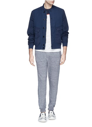 Figure View - Click To Enlarge - Paul Smith - Contrast sleeve cotton piqué bomber jacket