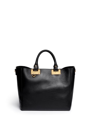 Main View - Click To Enlarge - Sophie Hulme - Adjustable leather tote