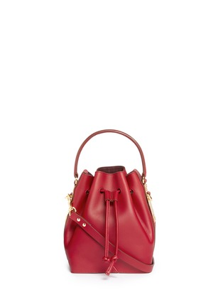 Main View - Click To Enlarge - Sophie Hulme - Small leather drawstring bucket bag