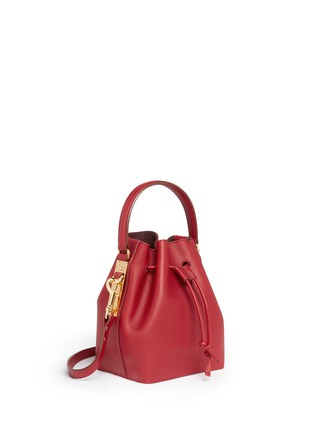 Figure View - Click To Enlarge - Sophie Hulme - Small leather drawstring bucket bag