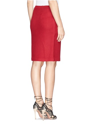 Back View - Click To Enlarge - ST. JOHN - Textured wool blend knit pencil skirt