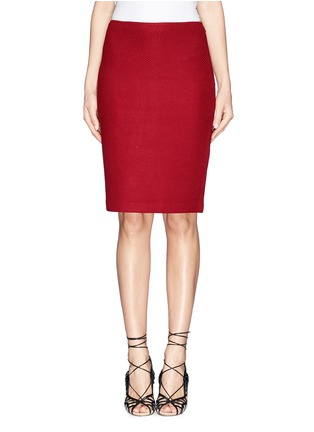 Main View - Click To Enlarge - ST. JOHN - Textured wool blend knit pencil skirt