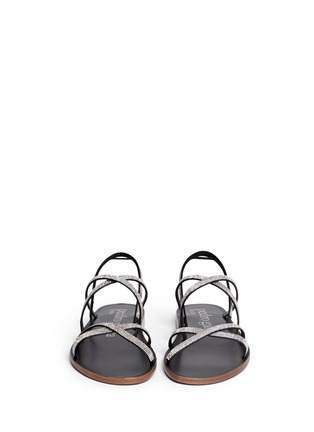 Figure View - Click To Enlarge - Pedro García - 'Zina' crystal pavé strappy sandals