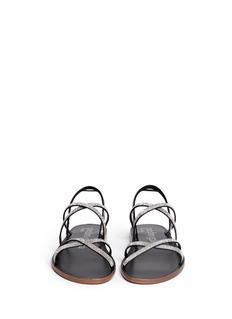 PEDRO GARCÍA'Zina' crystal pavé strappy sandals