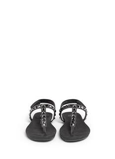 PEDRO GARCÍA'Judith' crystal stud suede sandals