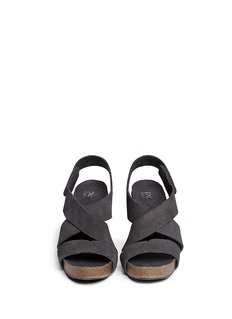 PEDRO GARCÍA'Laila' Velcro strap suede sandals
