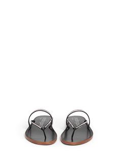 PEDRO GARCÍA'Zuriel' crystal pavé strap sandals