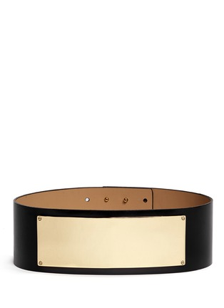 Main View - Click To Enlarge - ST. JOHN - Metal plate wide leather belt