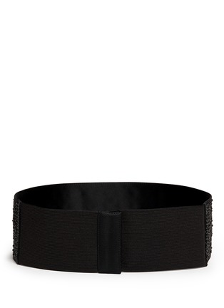 Back View - Click To Enlarge - ST. JOHN - Rhinestone satin elastic belt