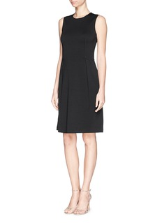 ST. JOHN Milano knit zip flare dress