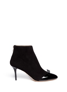 CHARLOTTE OLYMPIA Myrtle patent toe cap suede