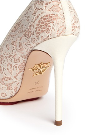 Detail View - Click To Enlarge - Charlotte Olympia - 'Monroe' lace pumps