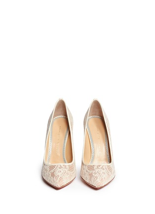 Figure View - Click To Enlarge - Charlotte Olympia - 'Monroe' lace pumps
