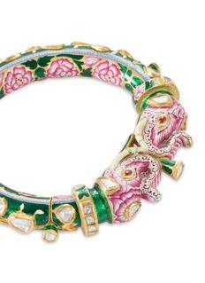 Aishwarya Diamond enamel gold alloy elepant bangle