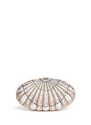 Main View - Click To Enlarge - Judith Leiber - 'Sea Dream Shell' crystal pavé minaudière