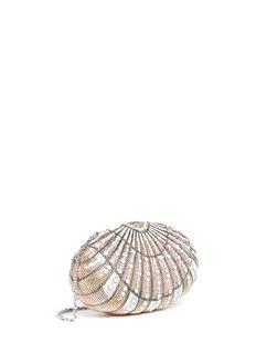 Judith Leiber'Sea Dream Shell' crystal pavé minaudière