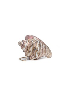 Judith Leiber 'Conch Shell' crystal pavé minaudière
