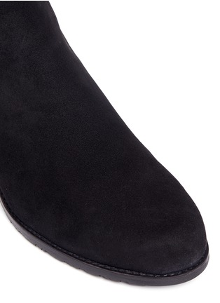 Detail View - Click To Enlarge - Stuart Weitzman - 'All Serve' stretch suede thigh high boots