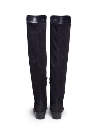 Back View - Click To Enlarge - Stuart Weitzman - 'All Serve' stretch suede thigh high boots