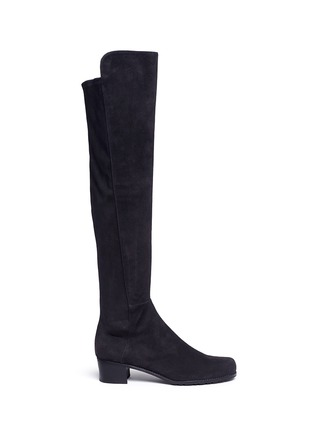 Main View - Click To Enlarge - Stuart Weitzman - 'All Serve' stretch suede thigh high boots