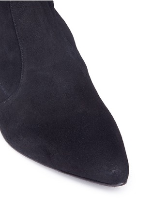 Detail View - Click To Enlarge - Stuart Weitzman - 'Thigh Land' stretch suede thigh high boots