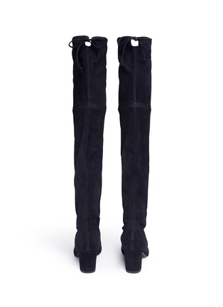 Back View - Click To Enlarge - Stuart Weitzman - 'Thigh Land' stretch suede thigh high boots