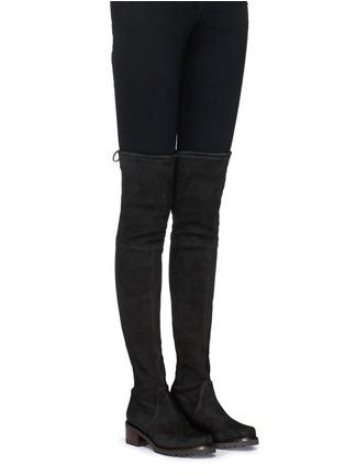 Figure View - Click To Enlarge - Stuart Weitzman - 'Vanland' knee high suede boots
