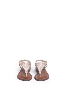 Sam Edelman Kids'Gigi Greta' glitter kids thong sandals