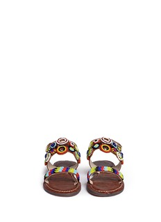 Sam Edelman Kids'Gigi Monica' embellished eyelet stripe kids sandals
