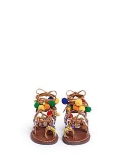 Sam Edelman Kids'Gigi Lisbeth' pompom beaded kids sandals