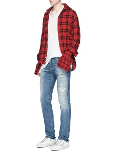 Faith ConnexionDistressed carrot fit jeans