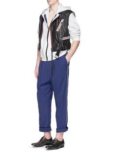 Haider AckermannSatin trim cotton jogging pants