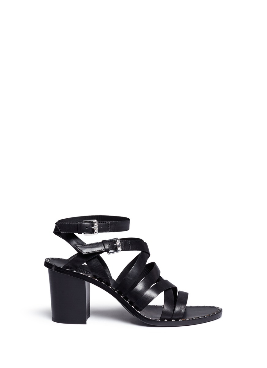 Puket stud strappy leather sandals by Ash