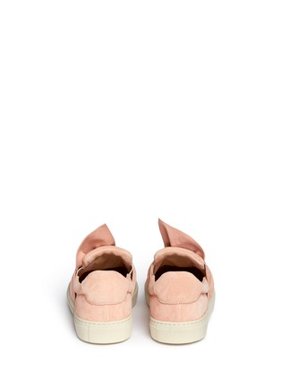 Back View - Click To Enlarge - Ports 1961 - Twist bow suede slip-on sneakers