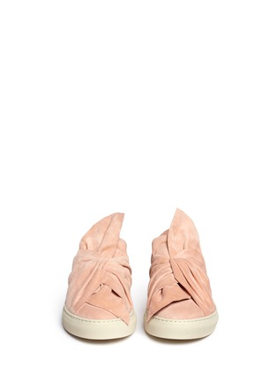 Front View - Click To Enlarge - Ports 1961 - Twist bow suede slip-on sneakers