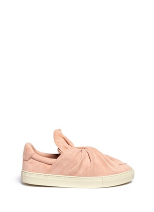 Main View - Click To Enlarge - Ports 1961 - Twist bow suede slip-on sneakers