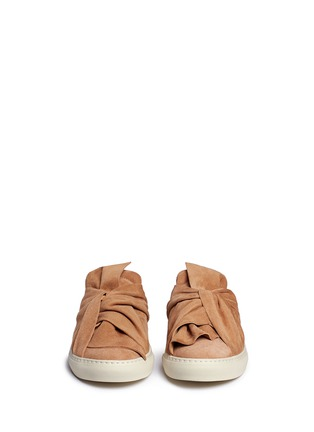 Front View - Click To Enlarge - Ports 1961 - Twist bow suede sneaker slides
