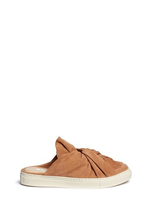 Main View - Click To Enlarge - Ports 1961 - Twist bow suede sneaker slides