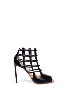 Francesco Russo 'Nadia' cutout heel leather sandal booties