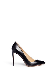 Francesco Russo 'Mirabelle' slanted vamp kid leather pumps