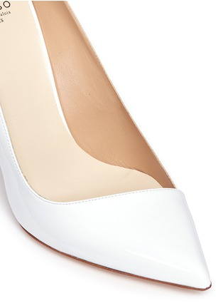 Detail View - Click To Enlarge - Francesco Russo - Asymmetric patent leather pumps