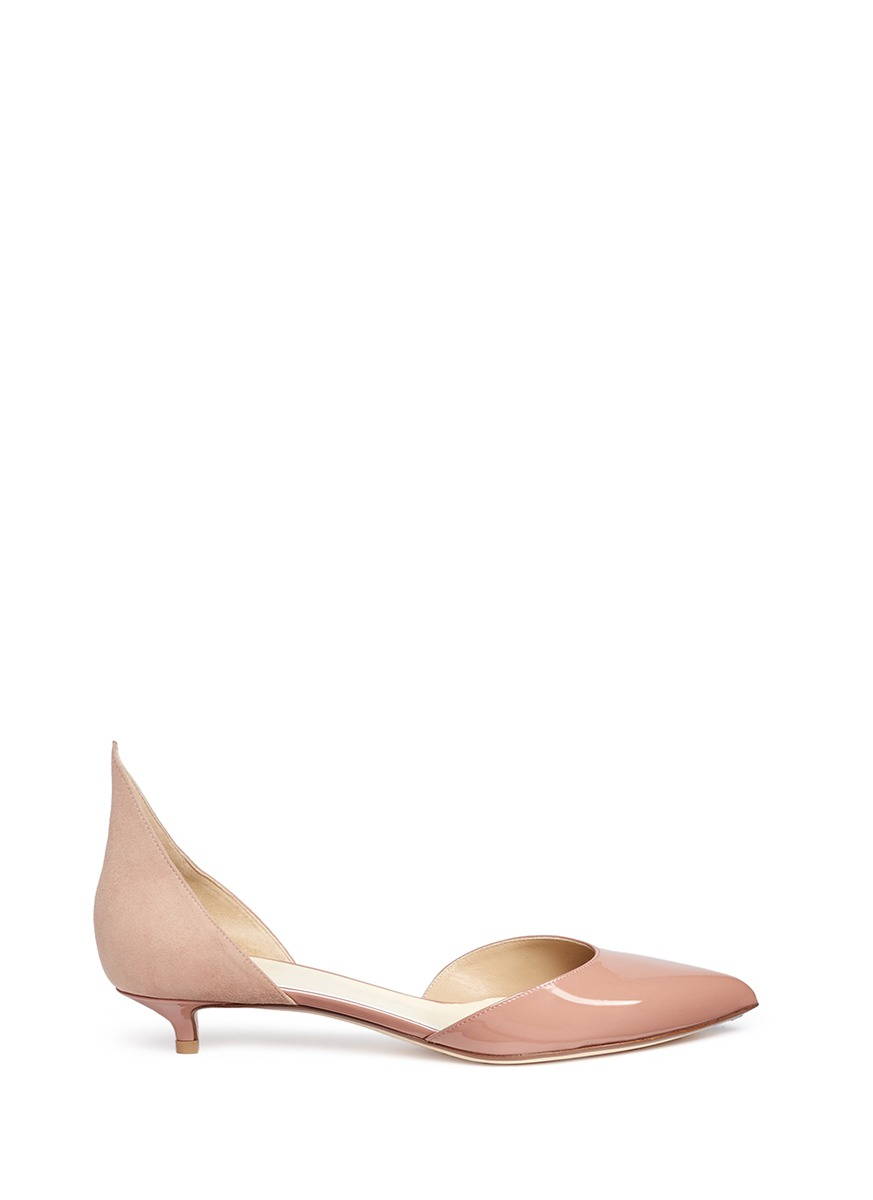 Phard pointed suede counter dOrsay pumps by Francesco Russo